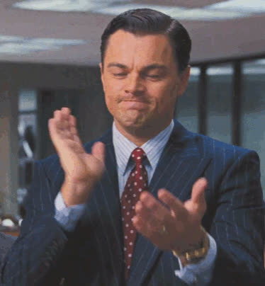 applause, approval, clap, clapping, good job, leo dicaprio, leonardo dicaprio, mhmmm, wolf of wall street, yes, Wolf of Wall Street Applause GIFs