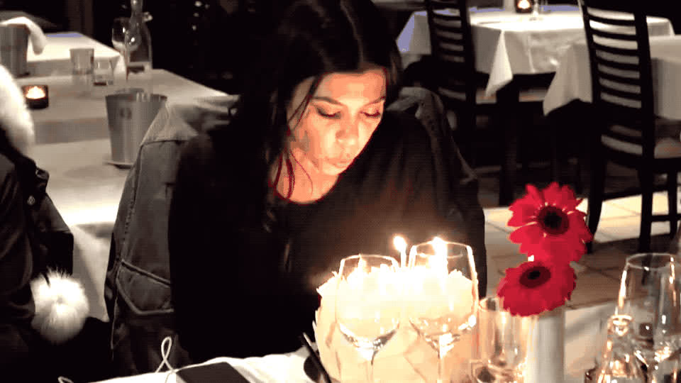 a, bday, birthday, blow, cake, candles, happy, happy birthday, kardashian, keeping, kourtney, kuwtk, make, party, sisters, surprise, the, up, wish, with, Happy birthday Kourtney GIFs