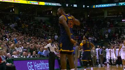 Watch and share Lebron James GIFs by Off-Hand on Gfycat