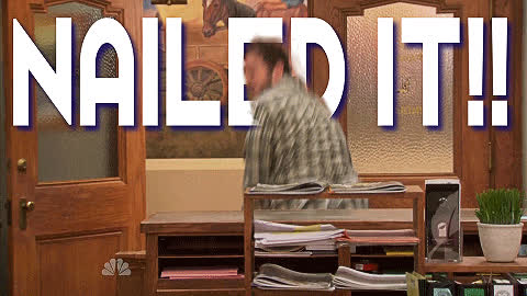 nailed it, nailed, parks, rec GIFs