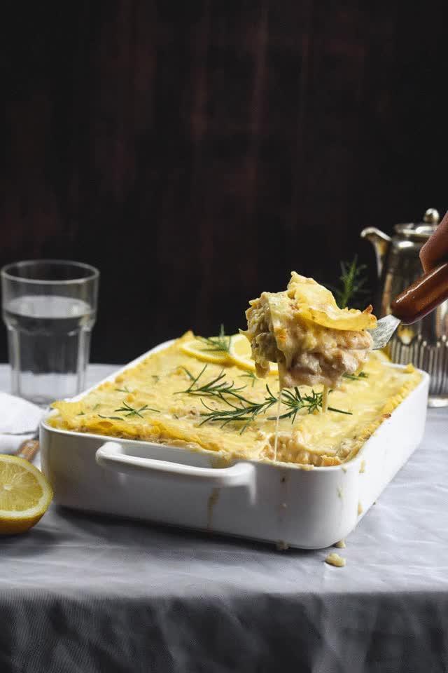 Watch and share Rosemary Lemon Alfredo Chicken & Cauliflower Lasagna! GIFs on Gfycat