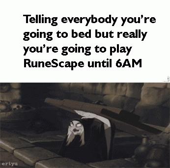 No sleep, RuneScape, nope, RuneScape GIFs