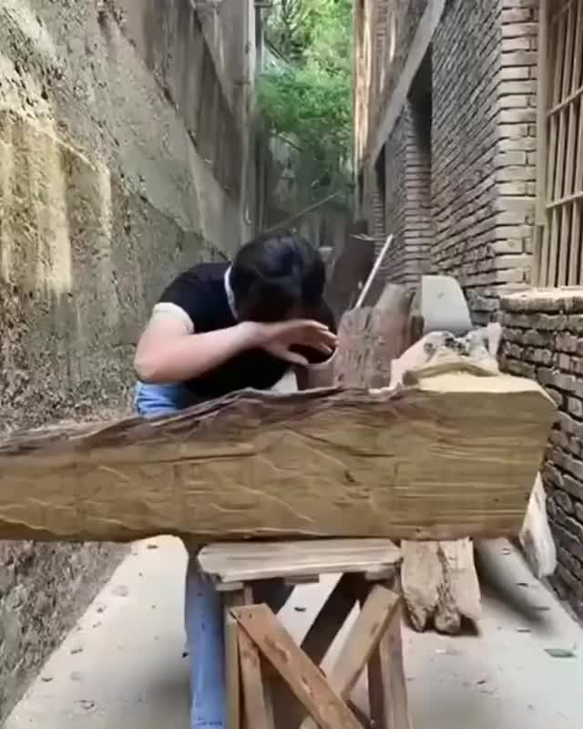 Watch and share Insane Wood Carving GIFs by diamondgun on Gfycat
