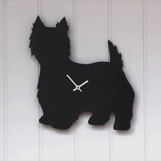 Watch and share West Highland Terrier Clock GIFs on Gfycat
