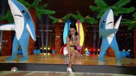 Katy Perry dancing sharks GIFs