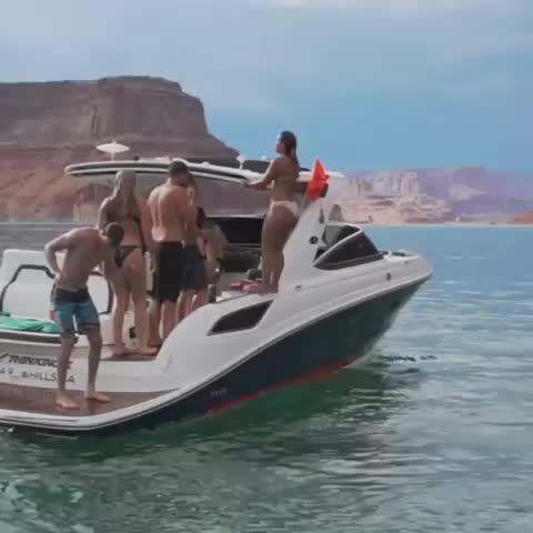 boat, fail, fail, white people, funny, Lake hops GIFs