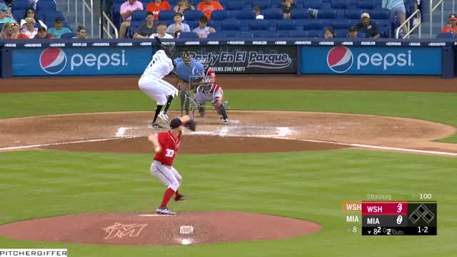 Watch and share Miami Marlins GIFs and Baseball GIFs by Pitcher Giffer on Gfycat