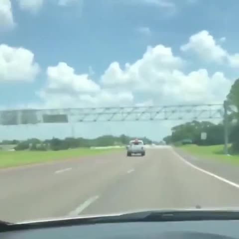 AwKLlm, Grandma in a wheelchair, strapped into the bed of a truck. GIFs