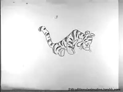 Watch Tigger - Milt Kahl GIF on Gfycat. Discover more 2d animation, Disney, Tigger, milt kahl, pencil test, winnie the pooh GIFs on Gfycat