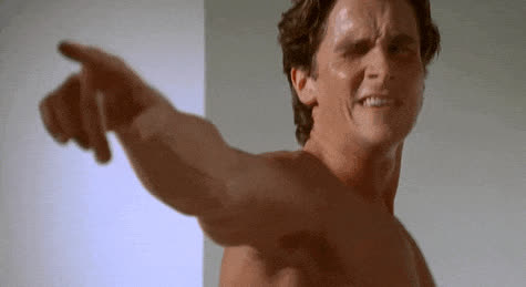 celebrities, christian bale, dancing, christian bale point GIFs