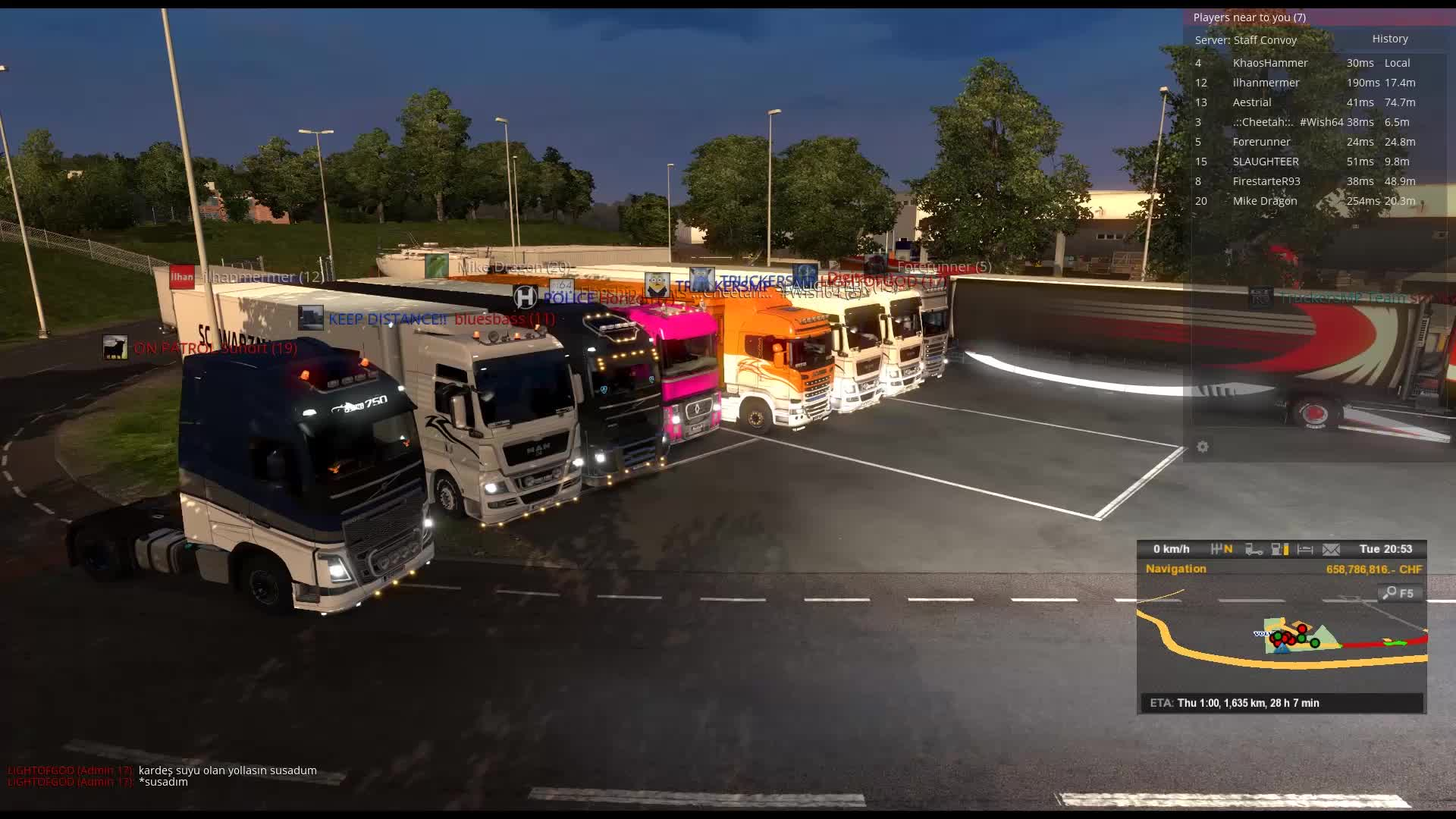 TruckersMP - How to end a Staff Convoy by Louie G. GIFs