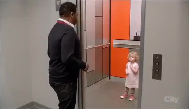 Watch and share Black-ish Little Girl In Elevator Scene GIFs on Gfycat