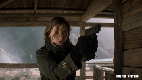 action, blockbuster, epic, m.i., mission impossible, mission impossible fallout, mission: impossible, missionimpossible, missionimpossible360, movies, paramount pictures, Rebecca With Gun GIFs