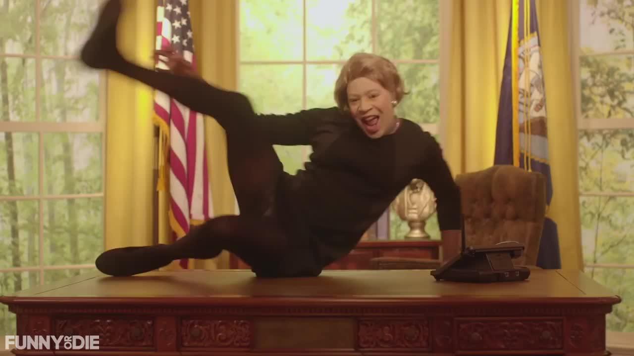 Funny Or Die, Wyclef Jean, break dance, fod, happy dance, president, Presidential Break Dance GIFs
