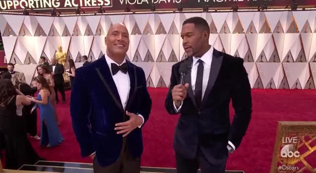 Watch The Velvet Brothers.  The Rock and Michael Strahan- Oscars 2 GIF by Vera Yuan (@verbear) on Gfycat. Discover more oscars, oscars2017, redcarpet GIFs on Gfycat