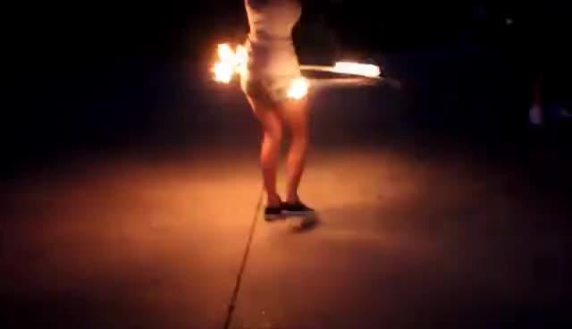 Fire Hoop: My First Burn GIFs