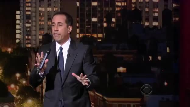 jerry seinfeld, Jerry Seinfeld standup at Letterman February 14th 2013 GIFs