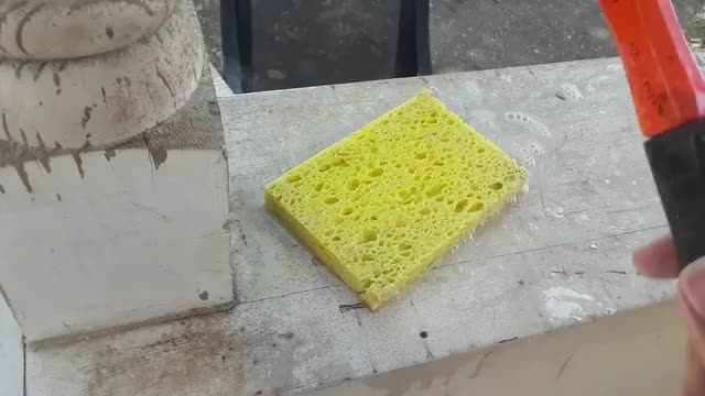 Watch and share Literally Beating A Sponge GIFs on Gfycat