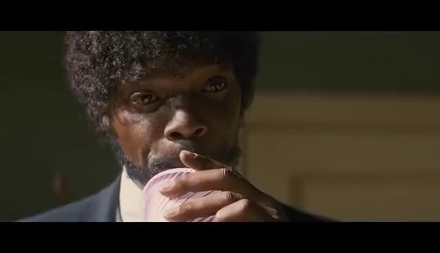 Watch Pulp Fiction   'Big Kahuna Burger' (HD) - Samuel L. Jackson, John Travolta   MIRAMAX GIF on Gfycat. Discover more related GIFs on Gfycat