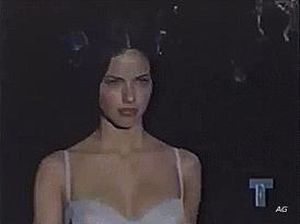 adriana lima, fashion, gif, victoria's secret fashion show, vsfs, xo, Adriana Lima @ the 1999 VSFS GIFs