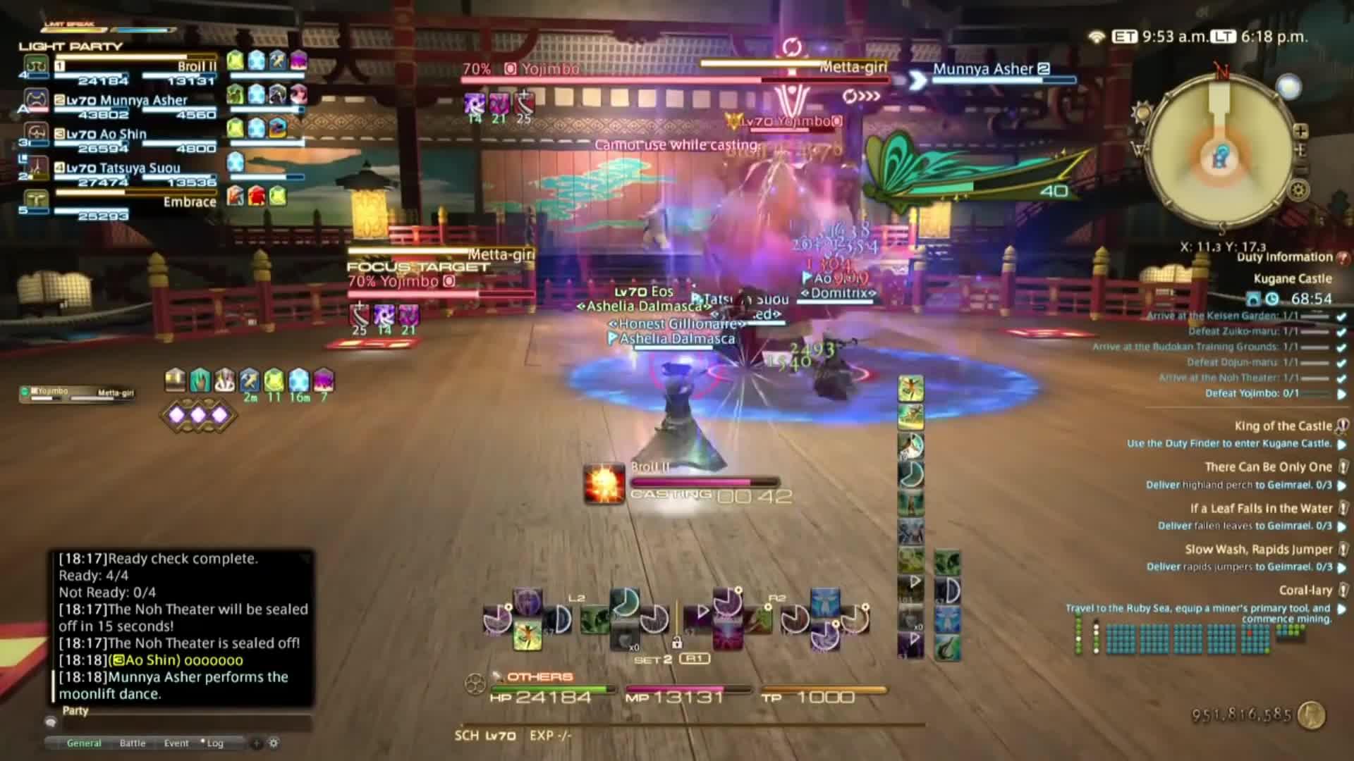 4.0, ENIX, Excalibur, FFXIV, Fantasy, Final, Game, Guide, II, IX, MMO, MMORPG, PLaythrough, Perfect, SQUARE, Stormblood, Walkthrough, XIV:, boss, yojimbo, Final Fantasy XIV: Stormblood - FFX Yojimbo BOSS Fight!! GIFs