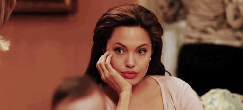 angelina jolie, bored, celebs, mr and mrs smith, neat, not interested, thats nice, unamused, uninterested, wow, Angelina Jolie Bored GIFs