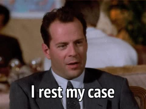 Bruce Willis, Moonlighting, case closed, celebs, Moonlighting - I rest my case GIFs