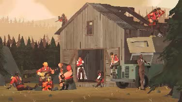 Watch Campfire - 3DSMax & PhotoshopThanks to Tommy Tallian for his GIF on Gfycat. Discover more Red Team, TF2, Team Fortress 2, campfire, pixel art, teamfortress 2, tf2 gif GIFs on Gfycat