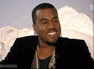 Watch and share Kanye West Hiding His Smile: The Original GIFs by quwanger on Gfycat