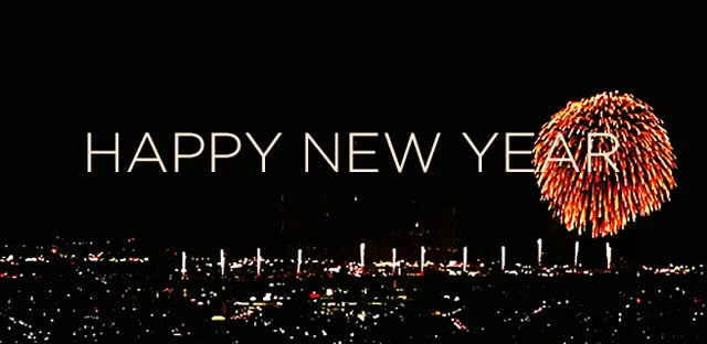 Watch and share Happy New Year Colorful Fireworks Over City Animated GIFs on Gfycat