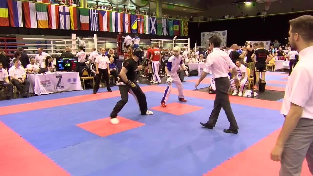 kickboxing, pointfighting, top ten, Robbie McMenamy v Roland Veres Hungarian Kickboxing World Cup 2016 GIFs