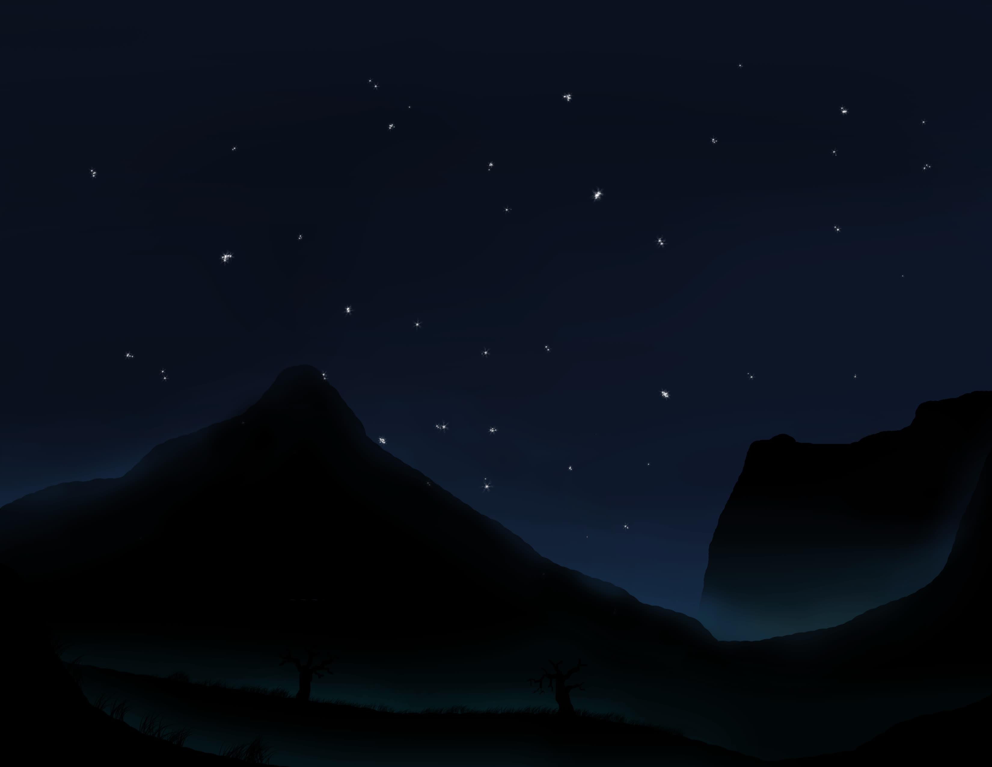 Прикольные, ночное небо гифы