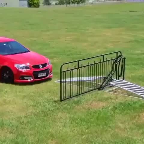 automative, automobile, car, computerscience, diy, electronics, engineering, engineers, equipment, gadget, homemade, instagood, love, manufacturing, production, satisfyingvideos, science, tech, technology, tools, This non-electric gate is powered by the weight of a car. Tag your friends Follow us @techngadgetz Repost: @cheddar . . . . . . . . . . . GIFs