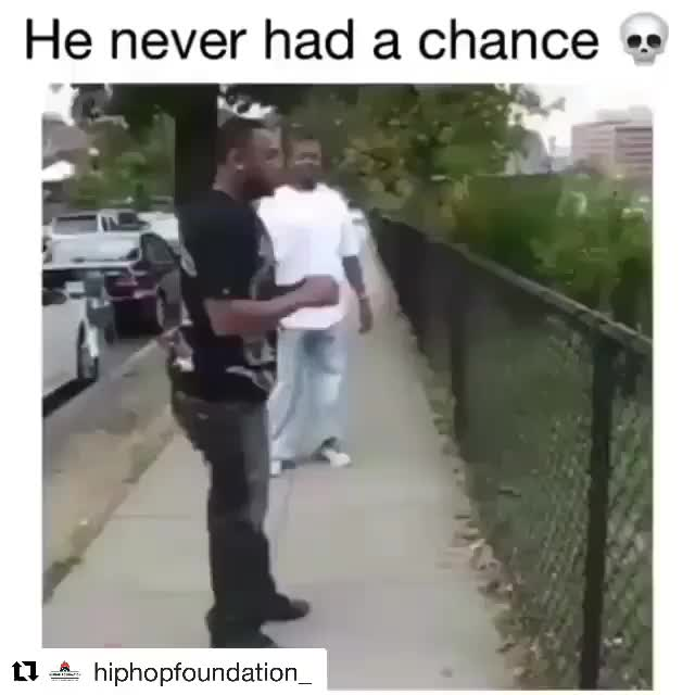 He never had a chance