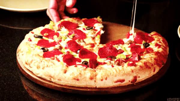 The cheesiest pizza food porn GIFs GIFs