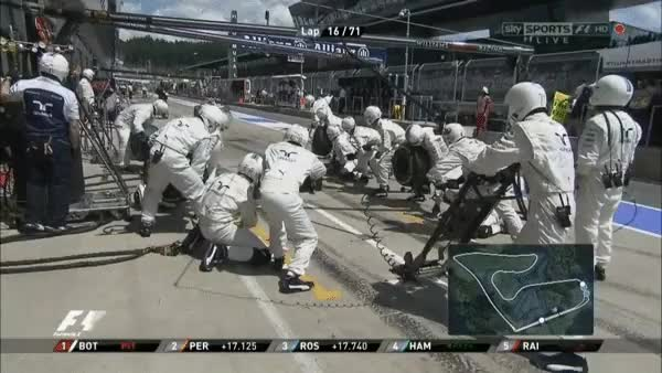 Watch and share Bottas' 2.1 Second Stop GIFs on Gfycat