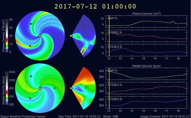 Watch and share Filament Eruption July 13, 2017 - CME Model GIFs by The Watchers on Gfycat
