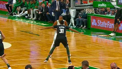 Watch Al Horford and Kyrie Irving — Boston Celtics GIF by Off-Hand (@off-hand) on Gfycat. Discover more 110118 GIFs on Gfycat