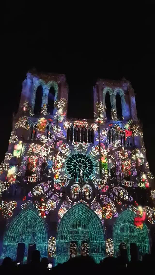 Watch and share Notre Dame Cathedral Light Show GIFs by Sef on Gfycat