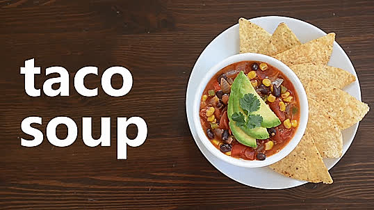 GifRecipes, vegangifrecipes, Taco Soup GIFs