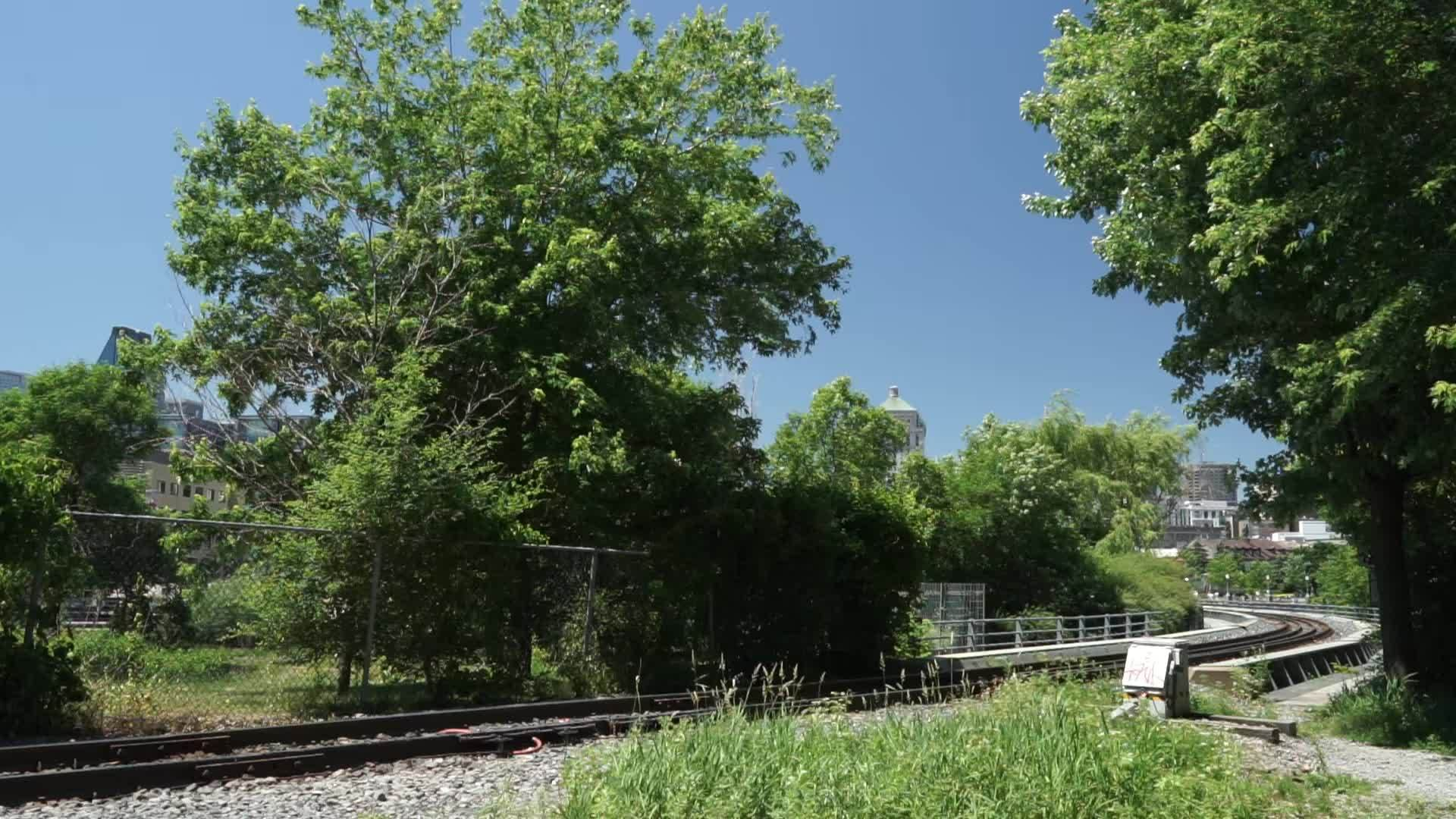 traingifs, GP-9RM's crossing the Lachine Canal GIFs