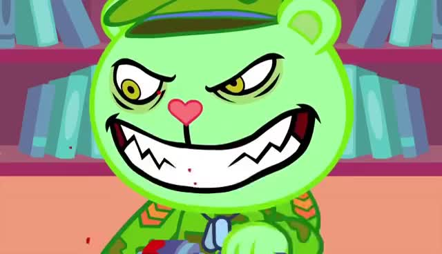 Watch and share Happy Tree Friends - Random Acts Of Silence (#74) GIFs on Gfycat