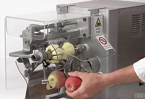 Watch Apple peeling machine. • r/interestingasfuck GIF on Gfycat. Discover more oddlysatisfying GIFs on Gfycat