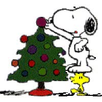 Watch and share Snoopy And Woodstock Christmas Photo: Snoopy And Woodstock Decorating The Tree Snoopy_tree_ani.gif animated stickers on Gfycat