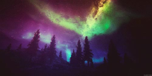 Watch and share Northern Lights, Nature, Color, Colorful, Bright GIFs on Gfycat