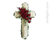 Watch and share Animated-flower-cross-sympathy-avatar-greeting-card GIFs on Gfycat