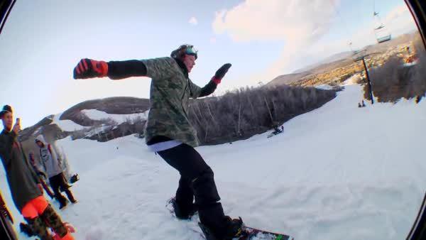 holdmyredbull, snowboarding, How a man drops in (reddit) GIFs