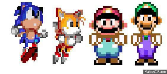 Watch and share Sonic Tails Mario And Luigi GIFs on Gfycat
