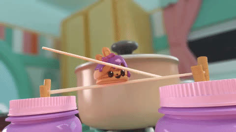 collectibletoy, numnoms, smellSOdelicious, Num Noms Snackables | Lip Gloss Truck | Berry Cakes GIFs