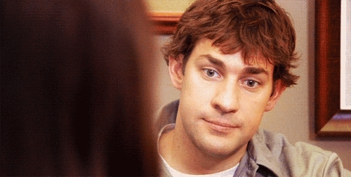 john krasinski, stare, the office, The stare GIFs